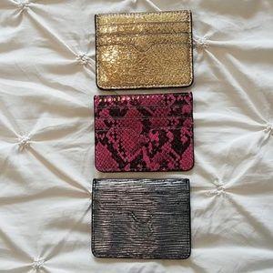 NWOT Express Gold, Black & Pink Camo Mini Wallets